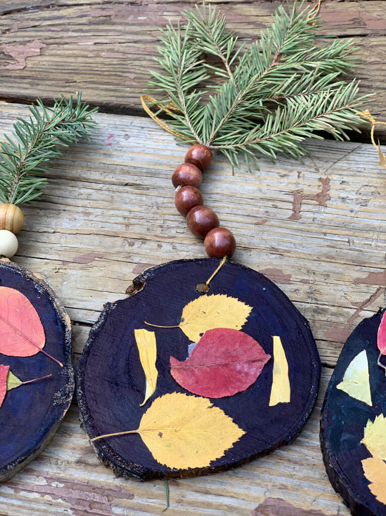 crafts with fall leaves for children