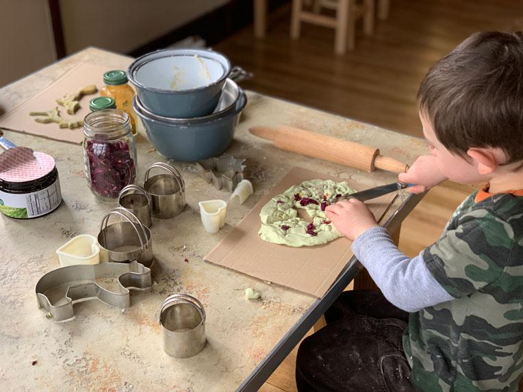 organic home-made play dough