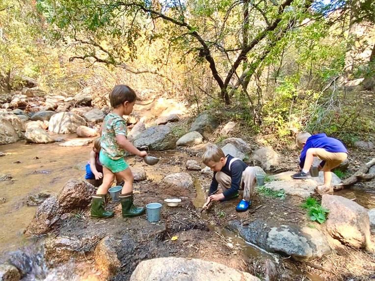 Forest school Colorado Springs nature kindergarten outdoor school program